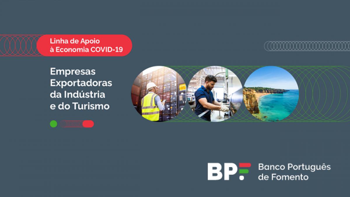 Linha de Apoio à Economia Covid-19, Empresas Exportadoras da Indústria e do Turismo