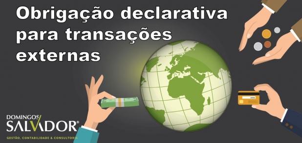 Obrigação declarativa para transações com o exterior
